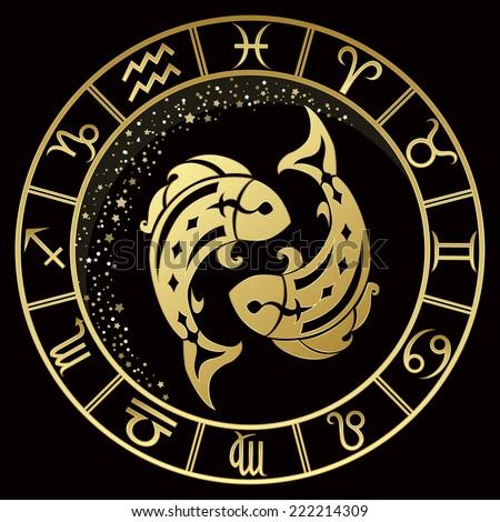 golden pisces zodiac sign