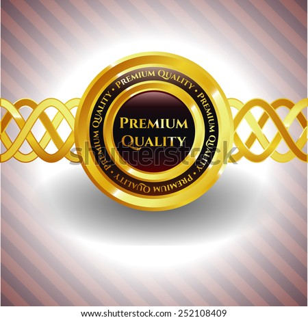 Golden Premium Quality Label