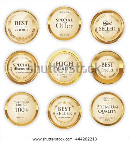 Golden Premium Quality retro Labels