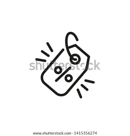 Golden price line icon. Sale, clearance, tag. Best offer concept. Can be used for topics like retail, shopping promotion