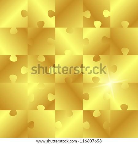 golden puzzle. golden puzzle concept.