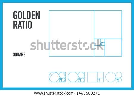 Golden Ratio Golden Square Golden  Logo Make
