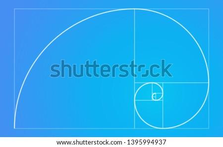 Golden ratio spiral fibonacci sequence