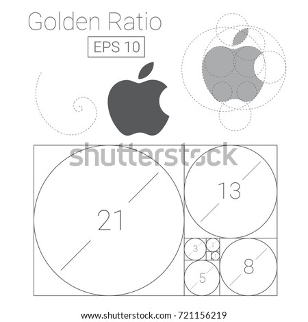 golden ratio template logo