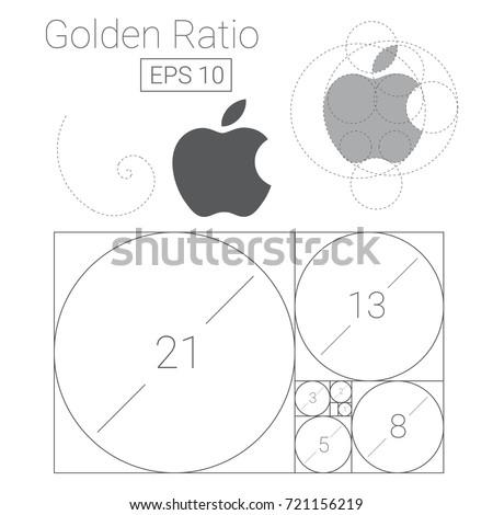 golden ratio template logo
