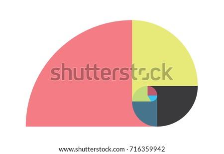 golden ratio template vector illustration fibonacci