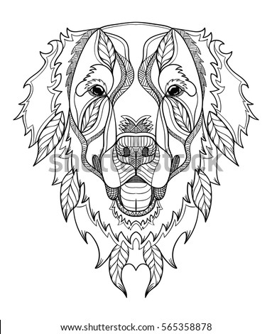 Tiger Head Vector Isolate On White Background Line Art And Doodle