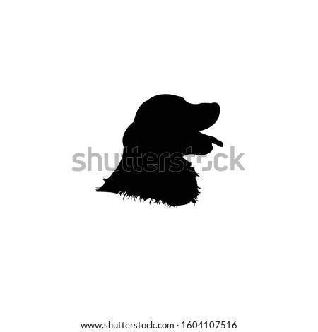 golden retriever head silhouette vector illustration. ストックフォト ©