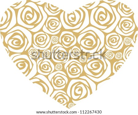 Golden Rose Heart Golden Rose Heart