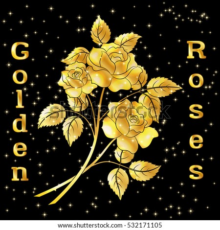 golden roses bouquet  three