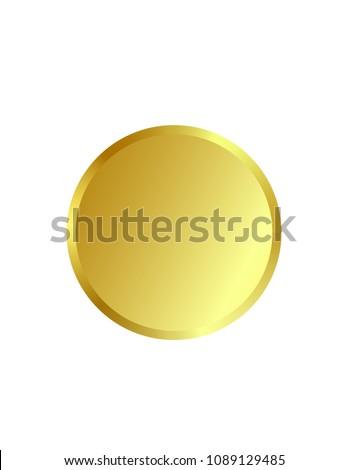 Golden round sticker