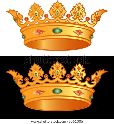stock vector : golden royal crown