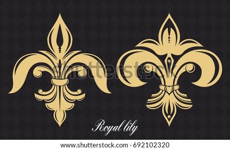 golden royal lily heraldic