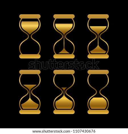 golden sands of time  hourglass