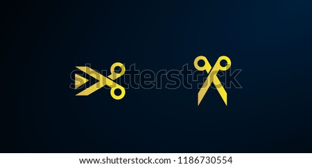 golden scissor logo, Set of abstract vector company business logo icons popular web concepts