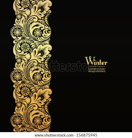golden seamless border design...