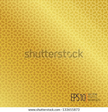 Golden seamless Islamic background