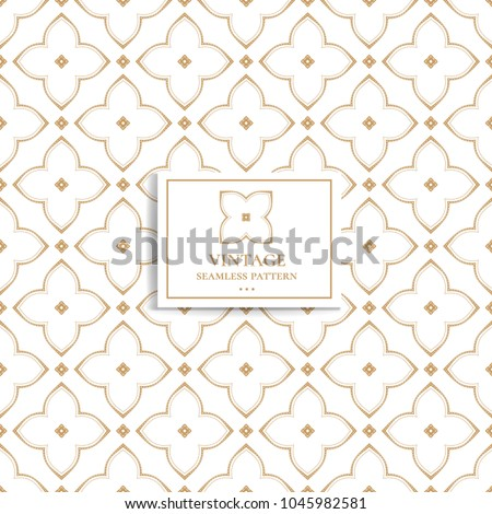 Golden seamless pattern. Geometric. Ornament, Traditional, Ethnic, Arabic, Turkish, Indian motifs. Great for fabric and textile, wallpaper, packaging or any desired idea.