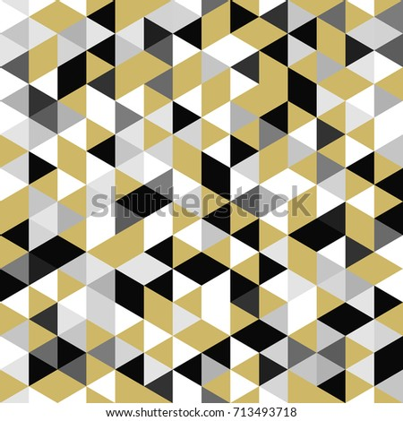 golden seamless pattern of