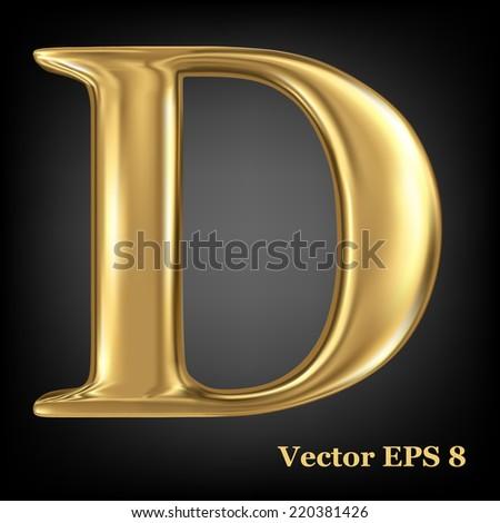 golden shining metallic 3d