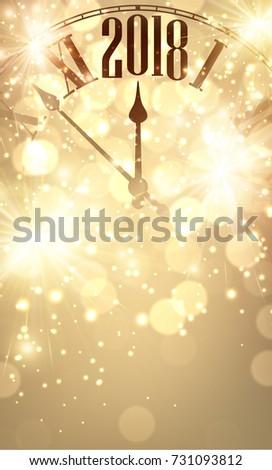 golden shining 2018 new year