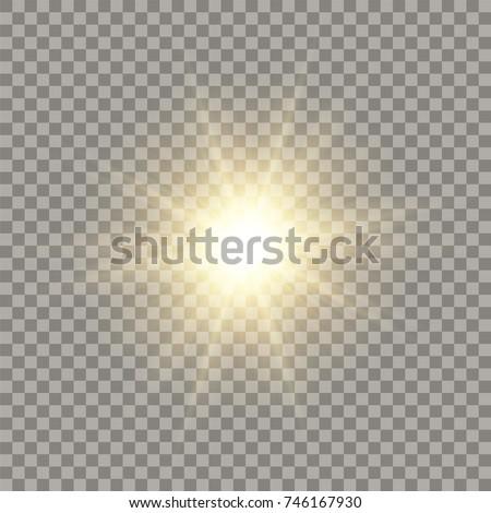 golden shining vector sun with...