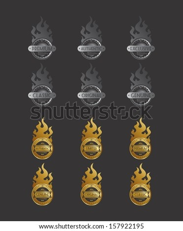 golden silver fire label pack