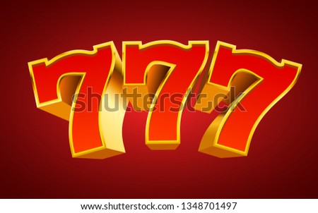 Golden slot machine 777 wins the jackpot. Big win concept. Vector illustration