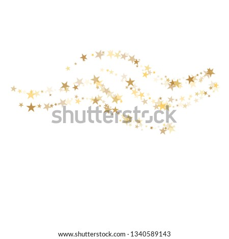Golden sparkling falling star. Vector stardust trail. swirl stars, gold sparkles background, christmas lights confetti. magic shining Flying glitter cosmic backdrop