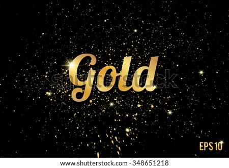 golden splashes on black