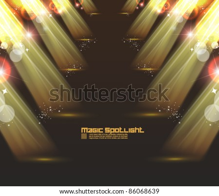 golden spotlight effect vector background design