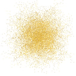 Golden spray background on white illustration vector