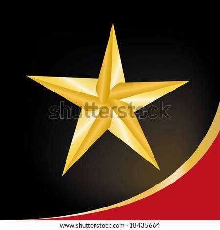 golden star symbol - stock vector