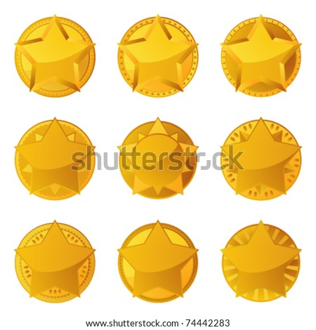 Golden stars with copy space