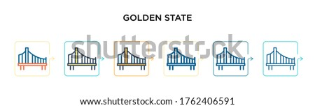 golden state vector icon in 6