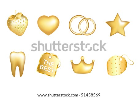 stock vector Golden