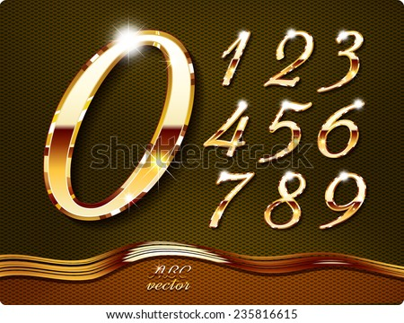 golden stylish  digits  with