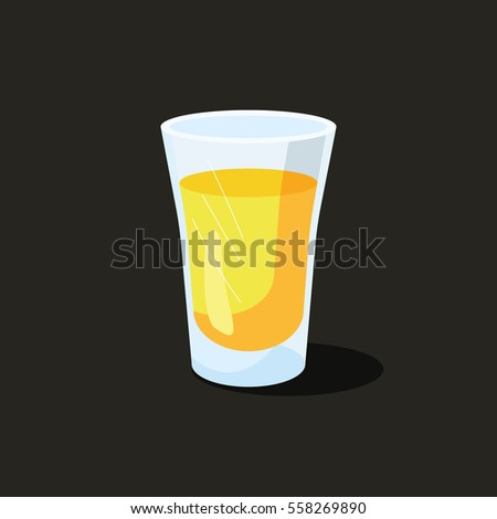 Golden tequila in a glass. Isolated shot