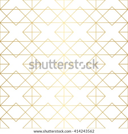 Golden texture. Seamless geometric pattern. Golden background. Vector seamless pattern. Geometric background with rhombus and nodes. Abstract geometric pattern. - Shutterstock ID 414243562