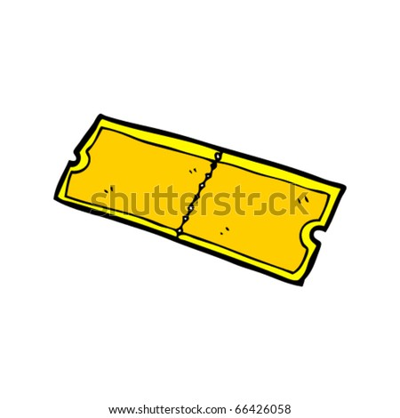 Cartoon Concert Tickets Golden Ticket Cartoon Stock