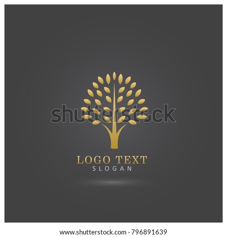 golden tree logo symbol and