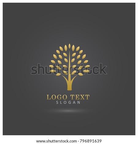 golden tree logo symbol and