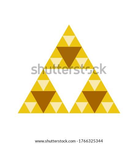 golden triforce geometric sandy
