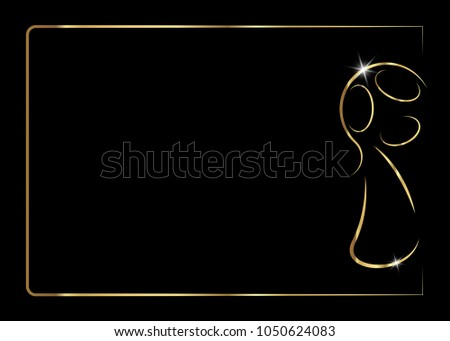 Golden trophy soccer ball icon, vector prize abstract football icon. Gold abstract Football cup trophy, vector isolated or black background for invitation card for football soccer