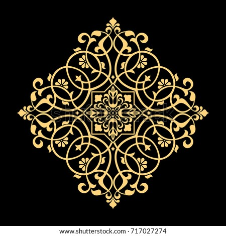 golden vector pattern on a