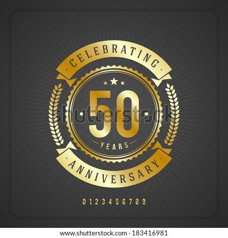 golden vintage anniversary...