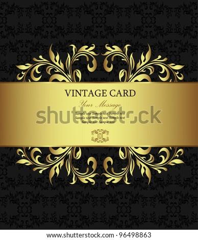 Golden vintage card
