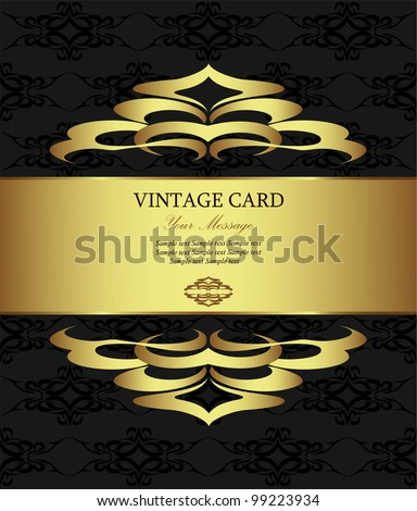 Golden vintage card