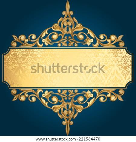 golden vintage design
