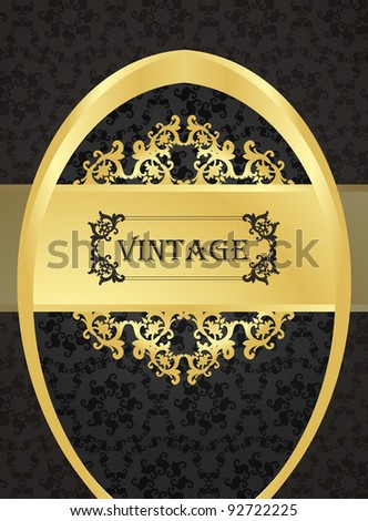 Golden vintage vector background